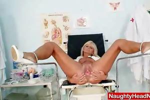 mamma frantiska cunny gaping in nurse uniform at