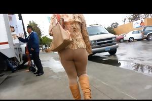older booty (spandex, no panties)