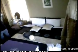 spying on wife as she is masturbates all around