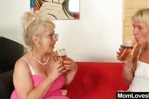 well-endowed grandma permeates a mother i