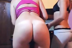 hawt milfs tease on web camera and 1 fingers her