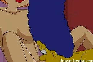 lesbo manga - marge simpson and lois griffin