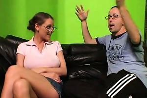 pleasing milf slurping a penis