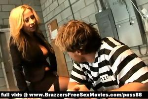 two outstanding sluts talk to a prisoner