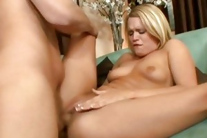 astonishing golden-haired doxy wife rammed