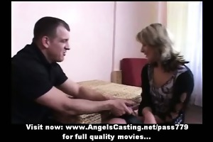 non-professional hawt blond bride lovely talking