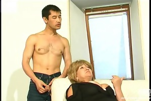 bulky aged screwed by oriental lad