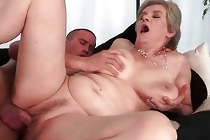 breasty grandma enjoys hawt sex with her boyfriend