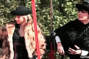 two nasty sexy lustful hotties slavery