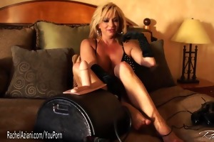 rachel aziani rides the sybian sex machine