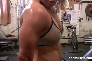 hot mature blond workout