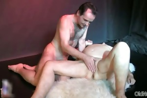 wicked old slut acquires her snatch pounded part6