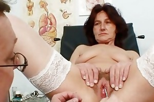 unshaved cunt grandma visits pervy woman doctor