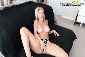 golden-haired hotty with paramour making web