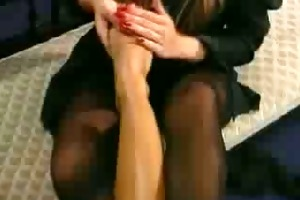 fetish lana cox vs ava lustra in lesbo feet and