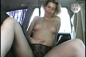mature non-professional masturbates herself in a