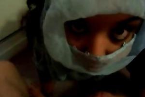 arab wife large facial