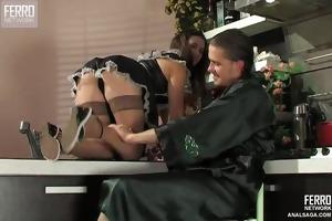 hot maid creampied anally