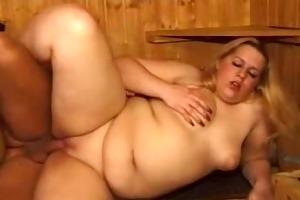 plump in the sauna