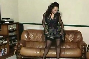 vintage older large tit striptease