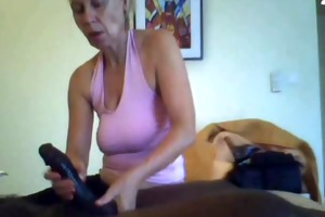white aged woman gives a great massage to bbc