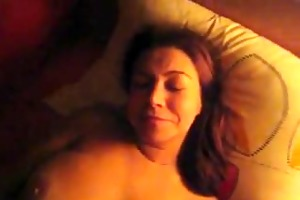 step-son catches her step-mom masturbating and