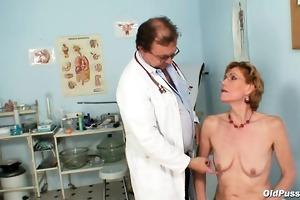 spruce old lady mila needs gyno clinic examination