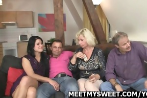 mature dad and mommy gangbang their sons gf