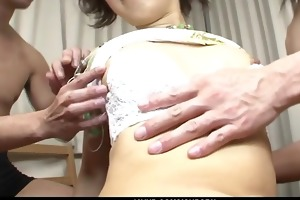 pervert and skinny honey in pigtails bending over