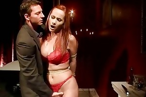 breasty redheaded mother i receives bondaged and