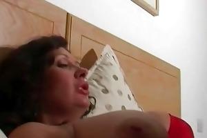 spruce brunette hair wife got screwed in hot dark