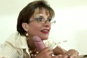 british mature female-dom is fond of gags