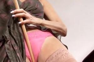 hot cougar hirsute cum-hole massage