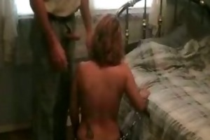 bounded wife receives caressed