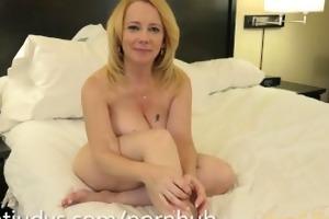 brandie ravishing fondles her enchanting cum-hole