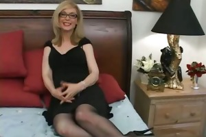 blonde mother i in glasses licking hard