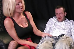breasty golden-haired mother i in wild blowjob