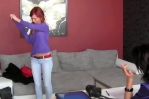 czech beautiful redhead first time with a woman