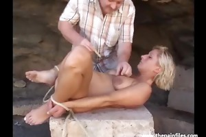 spouse takes his wife into the desert for a bdsm