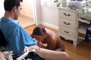 beautiful mother i in stockings sucks rod