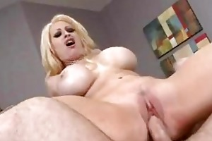 blond mother i with huge tittilations in fishnet