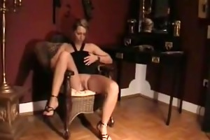 blond d like to fuck high heel cum-hole