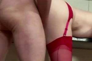 real european sweetheart in nylons receives