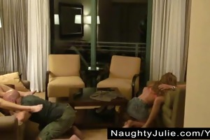 invited to a swinger party – biggest group sex