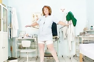 corpulent old nurse mama receives nasty in gyn