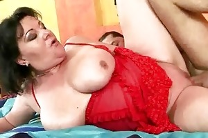 busty corpulent grandma getting drilled hard