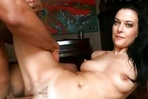 tanned dark brown mother i receives her bald