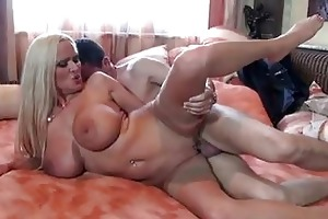 enormous chested aged golden-haired in nylons