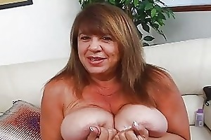 aged momma with additional huge bosom sticks sex