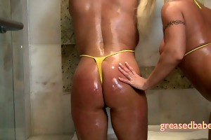 juicy and oiled milfs with large pointer sisters